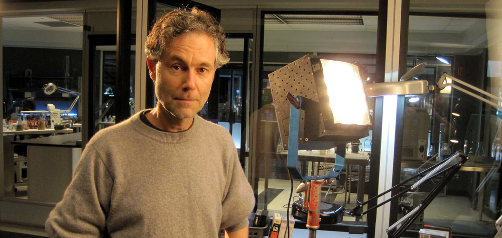 Prototype first generation tungsten Boxer on the set of CSI with DP Christian Sebaldt. Note the blue yoke.