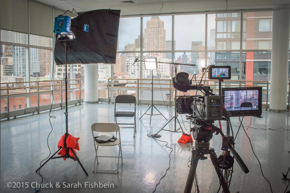 Chuck Fishbein interview setup