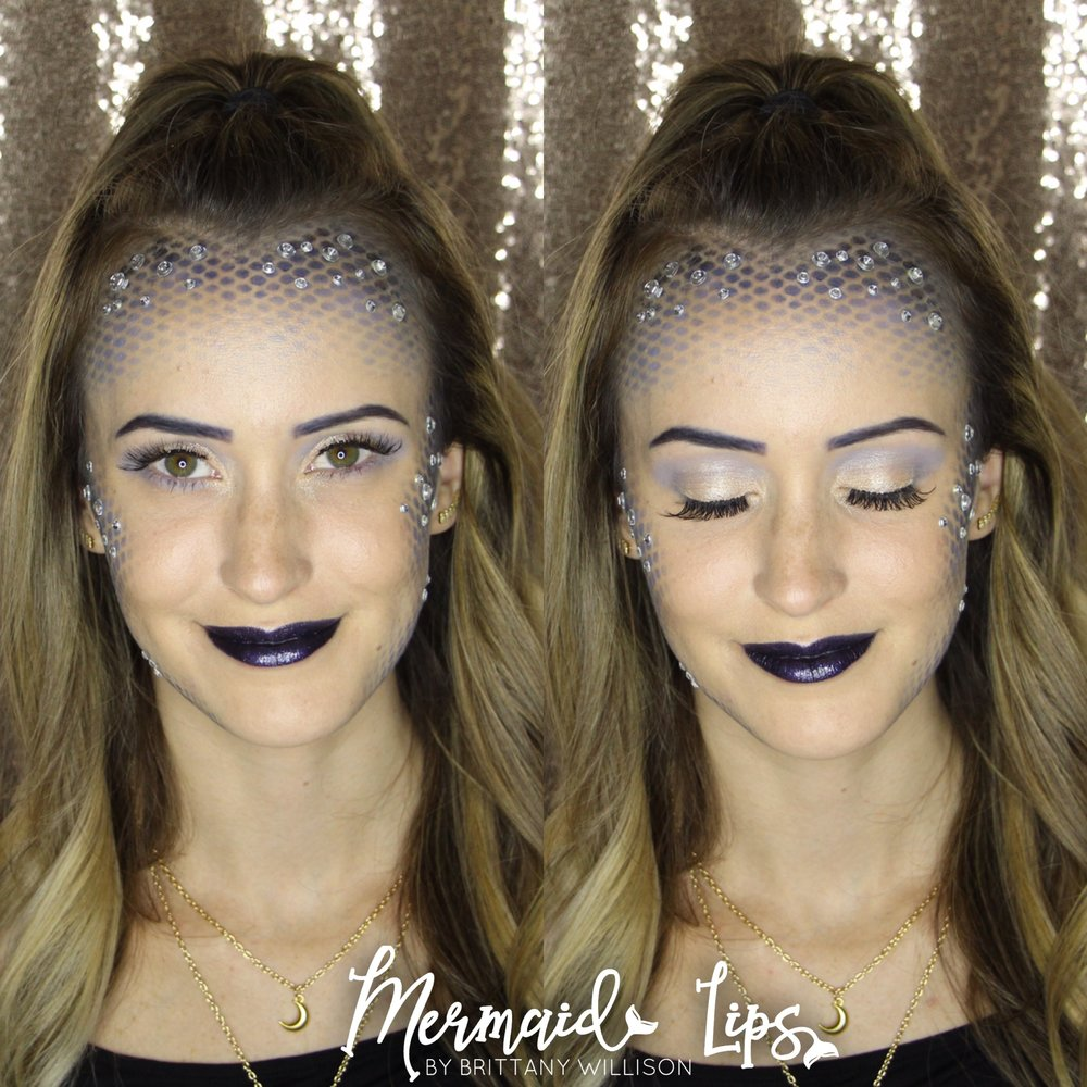 midnight mermaid halloween makeup kiss proof smudge proof water proof