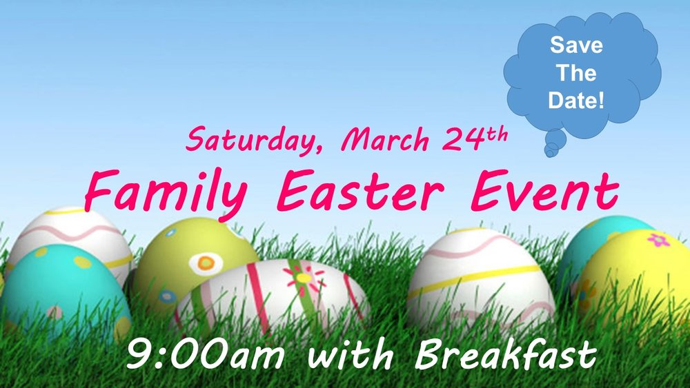 Breakfast, Crafts & Egg Hunt! Please join the fun rain, snow or shine at SMLC.
