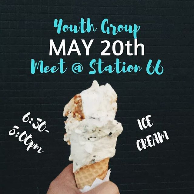 Meet up at Station 66 tonight for ice cream and fun! See you at 6:30pm!