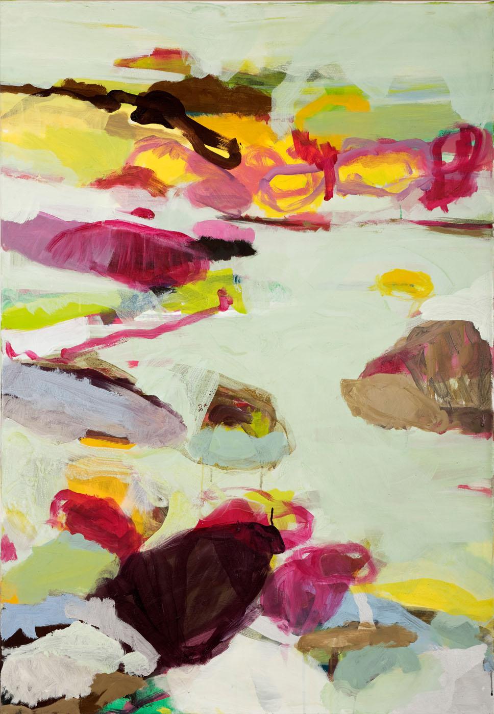 Grünes Land II, 2010. Acryl, 90 x 130cm
