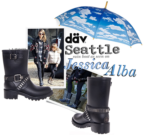 CELEBRITY STYLE: JESSICA ALBA LOVES THE MOTO RAIN BOOT