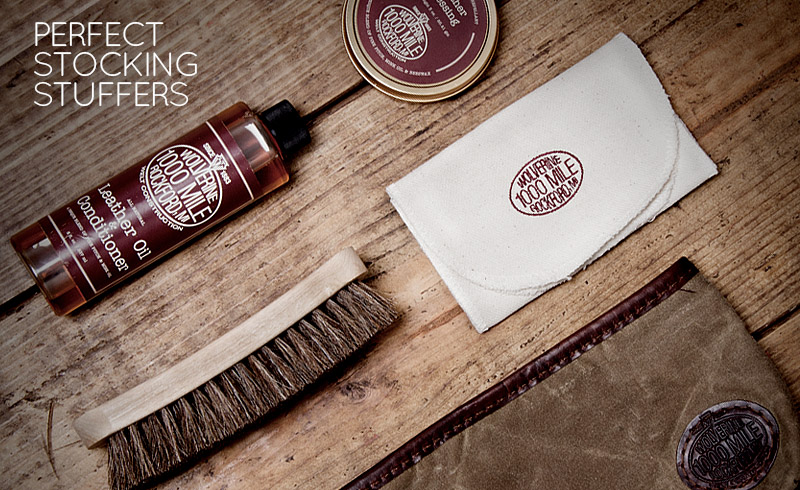 PERFECT STOCKING STUFFERS: LEATHER SHOE CARE KITS BY WOLVERINE, RED WING, AND UGG AUSTRALIA