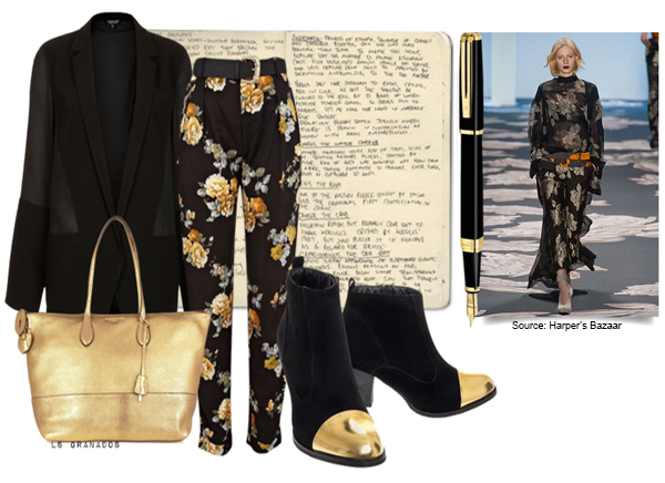 STYLE FILES: BLACK AND GOLD GOES CASUAL