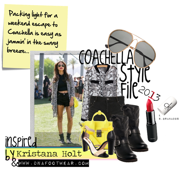 COACHELLA STYLE FILE: INSPIRED BY KRISTANA HOLT & DNA FOOTWEAR