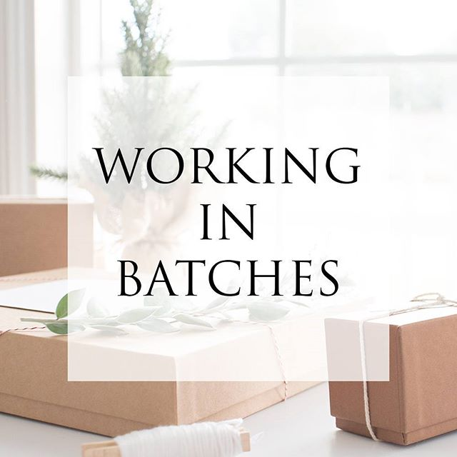 I've started structuring my day to day stuff in batches. Read about what it is and how it's helped, today on the blog!