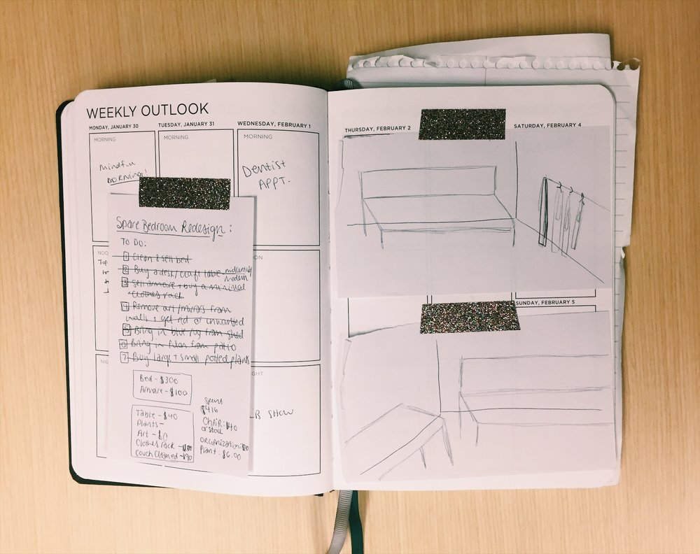 studio remodel sketches and budget