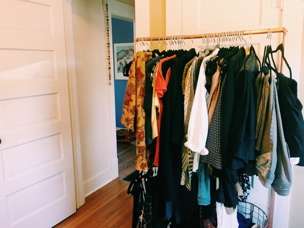 copper clothing rack from MoodyMarsh