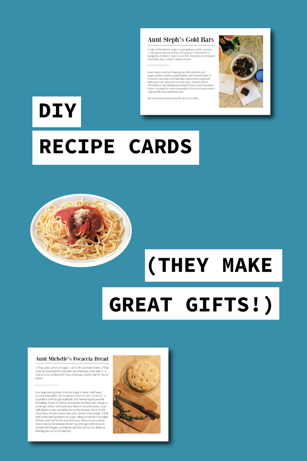 DIY Photo Recipe Cards