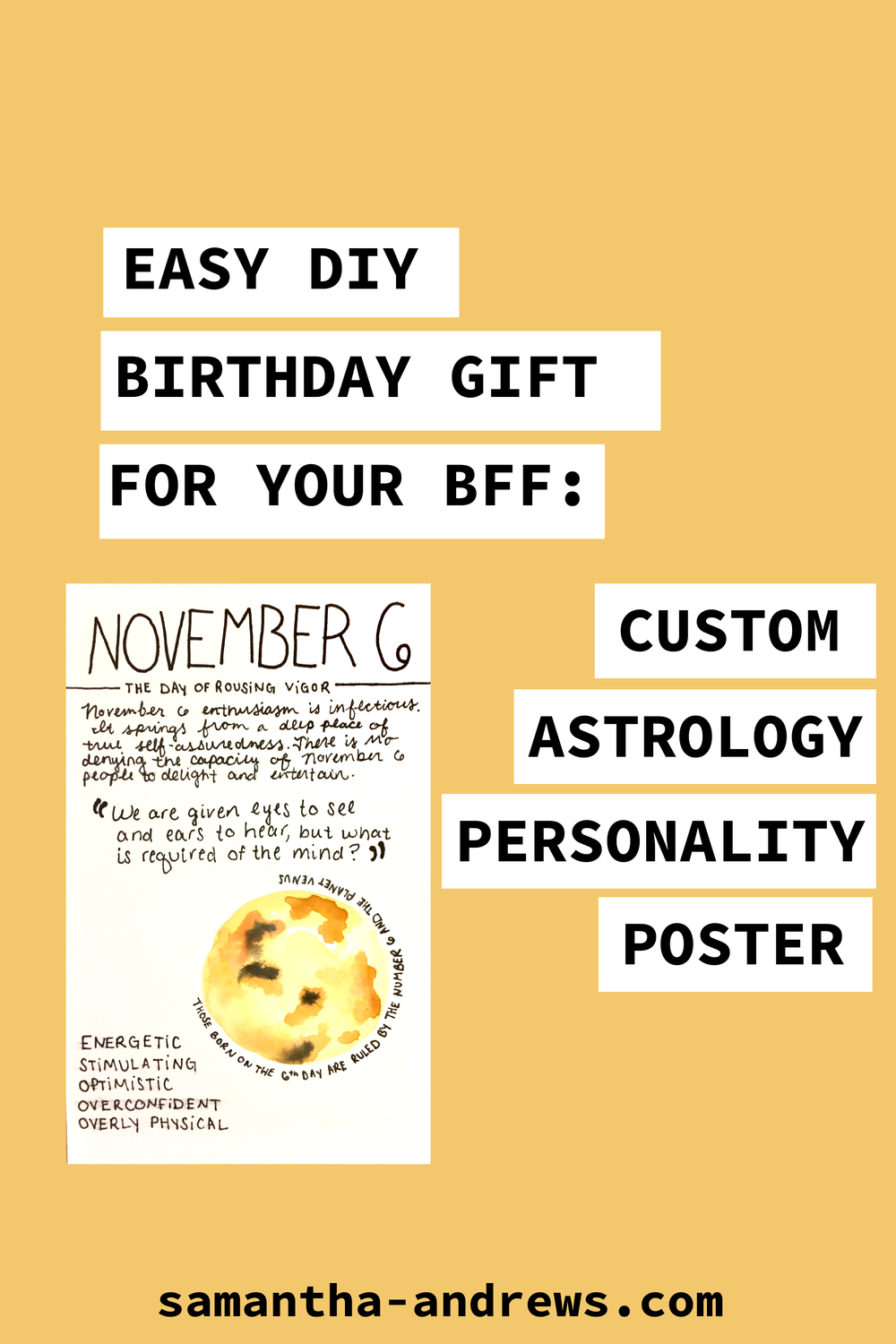 Easy DIY Birthday Gift For Best Friends