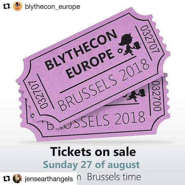 I am thrilled beyond words! I have purchased my ticket and will be attending this incredible event next June! Thank you @jensearthangels for this amazing opportunity! So excited to meet the wonderful artists who celebrate #blythe with their talent and style! #blythconeurope @blythecon_europe @rosannadebellis #earthangelstudiosdotcom will be there as a #vendor