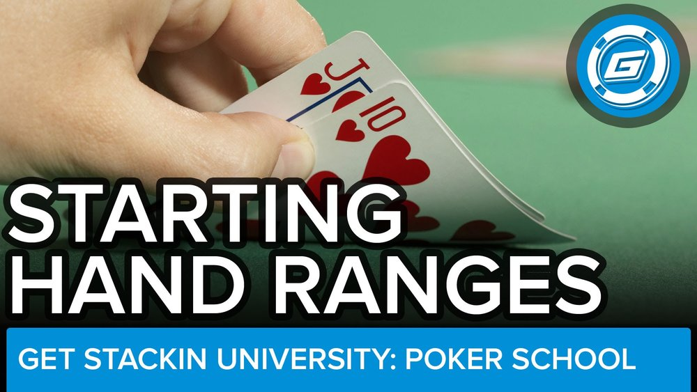 Starting Hand Ranges For Short-Handed No-Limit Cash Games - LESSON #15