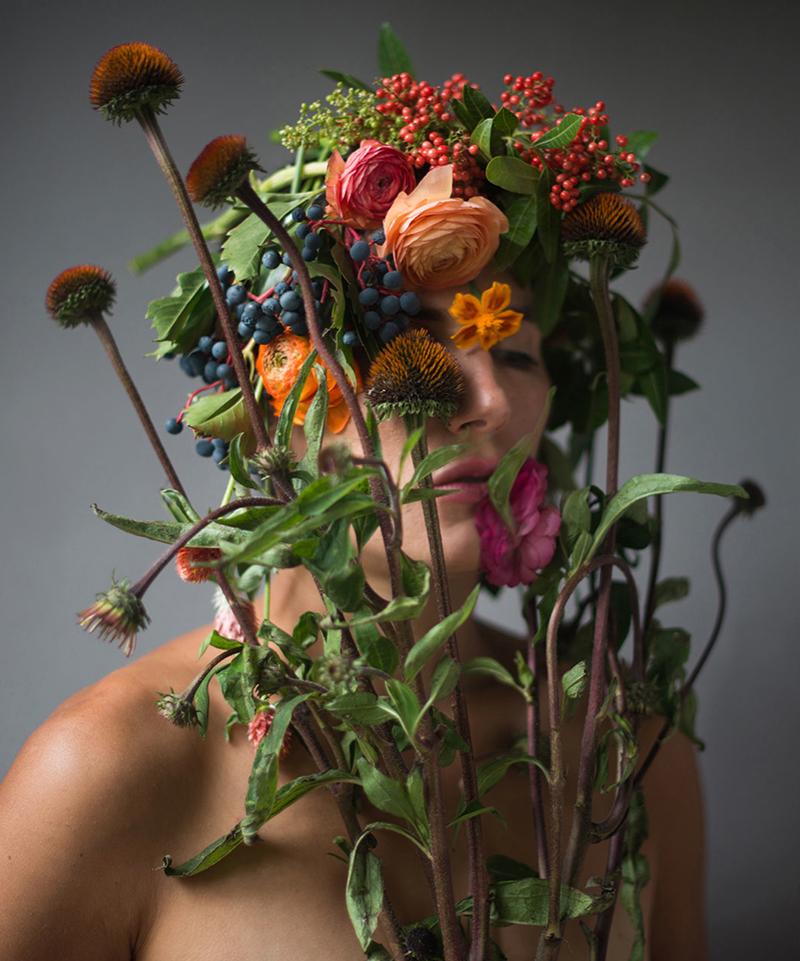 "Andi Echinacea, 2013, C-Print, 35 x 29"""