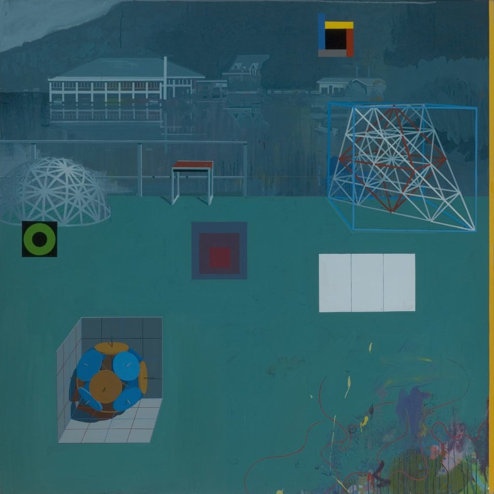 Clark Richert, Black Mountain College, 2009, acrylic on canvas, 70 x 70 in