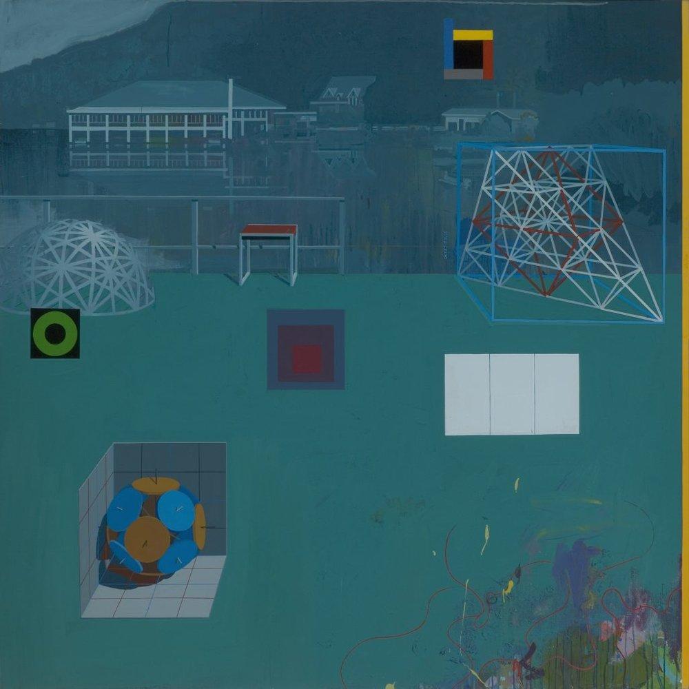 Clark Richert, Black Mountain College,2009,acrylic on canvas,70 x 70 in