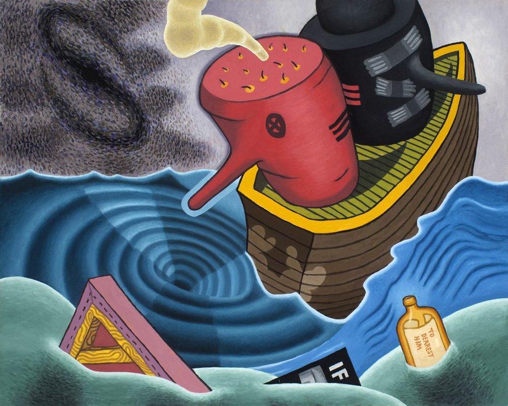 Paul Gillis, Whirlpool,2016,oil on panel,24 x 30 in