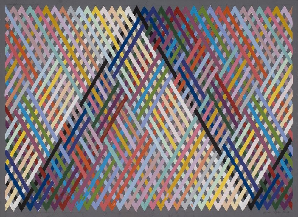 Charles DiJulio, Untitled, From the private collection of Paul Gillis, 1976, acrylic on paper, 35.5 x 28.5 in