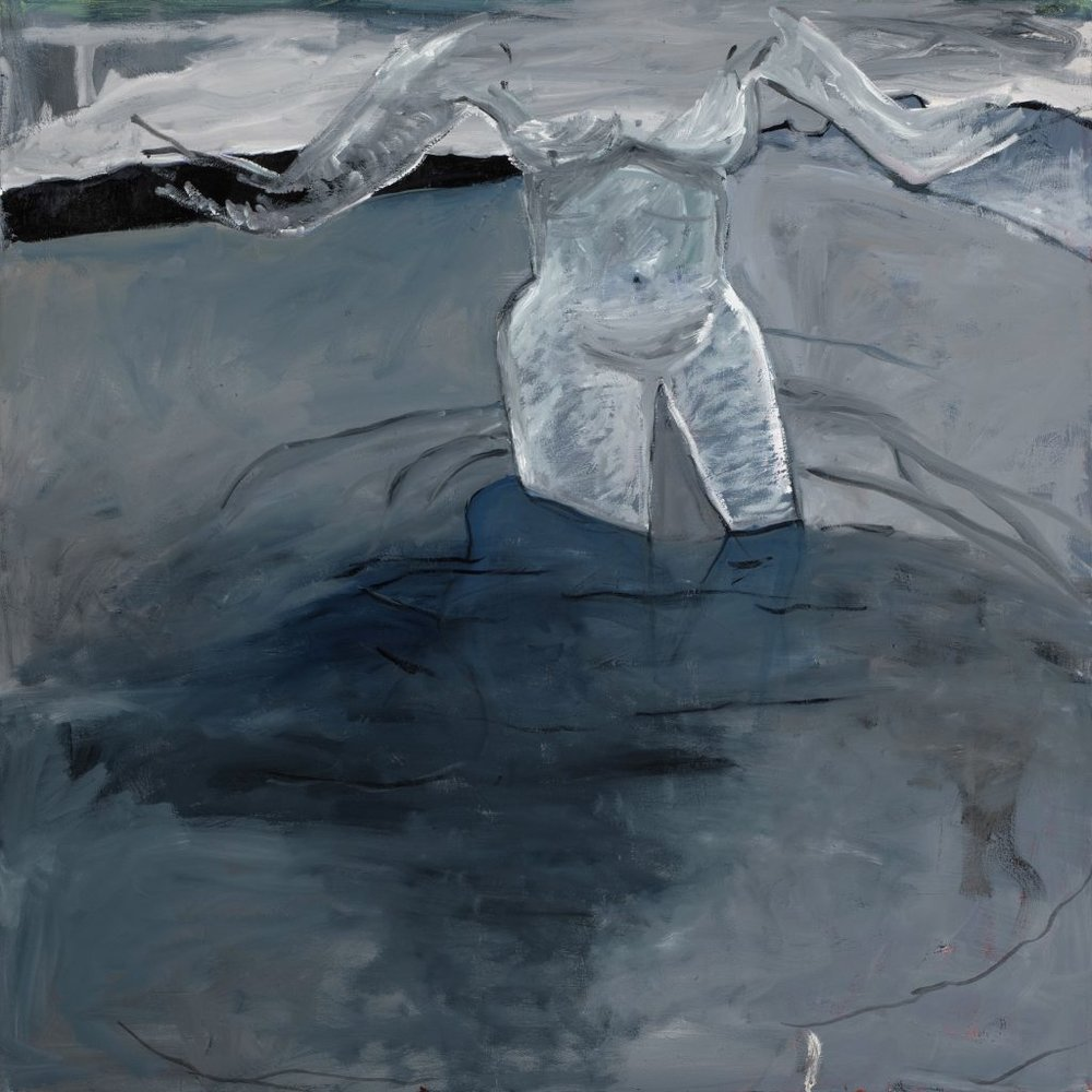Margarett Neumann, She Wade In Water, 2014, oil on canvas, 54 x 54 in