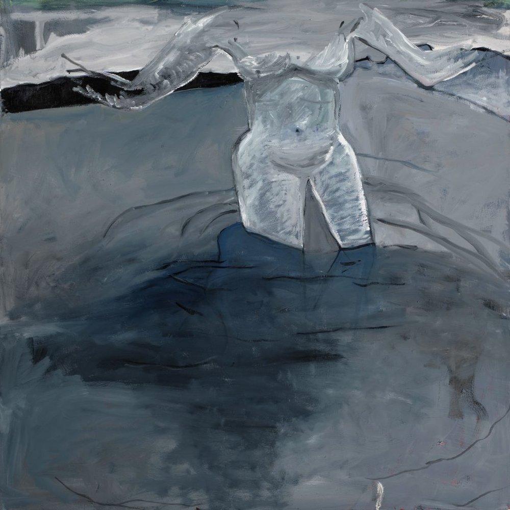 Margarett Neumann, She Wade In Water,2014,oil on canvas,54 x 54 in