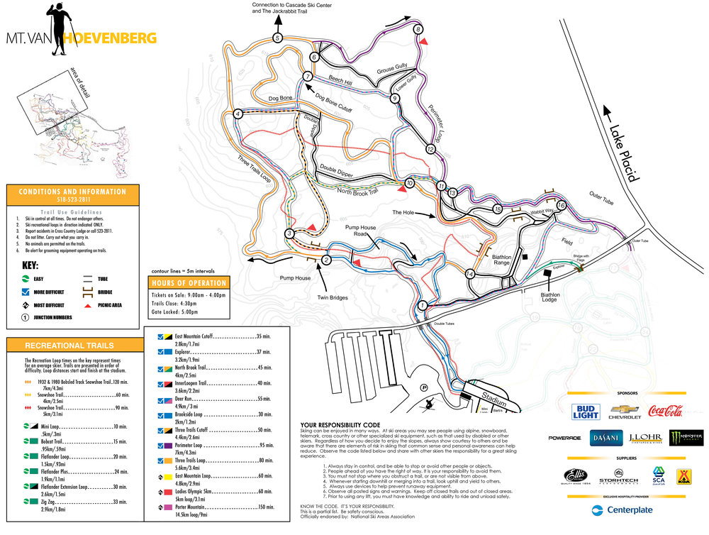 Trail Map — Mt. Van Hoevenberg on
