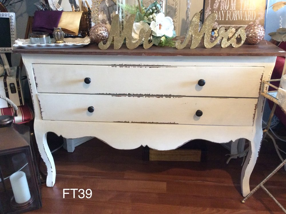2 Drawer Shabby Chic Buffet