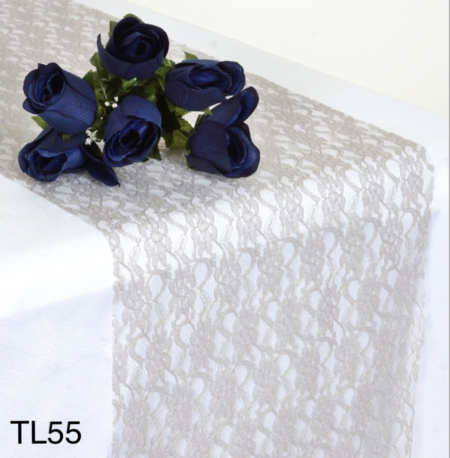 Silver/Gray Lace Table Runners