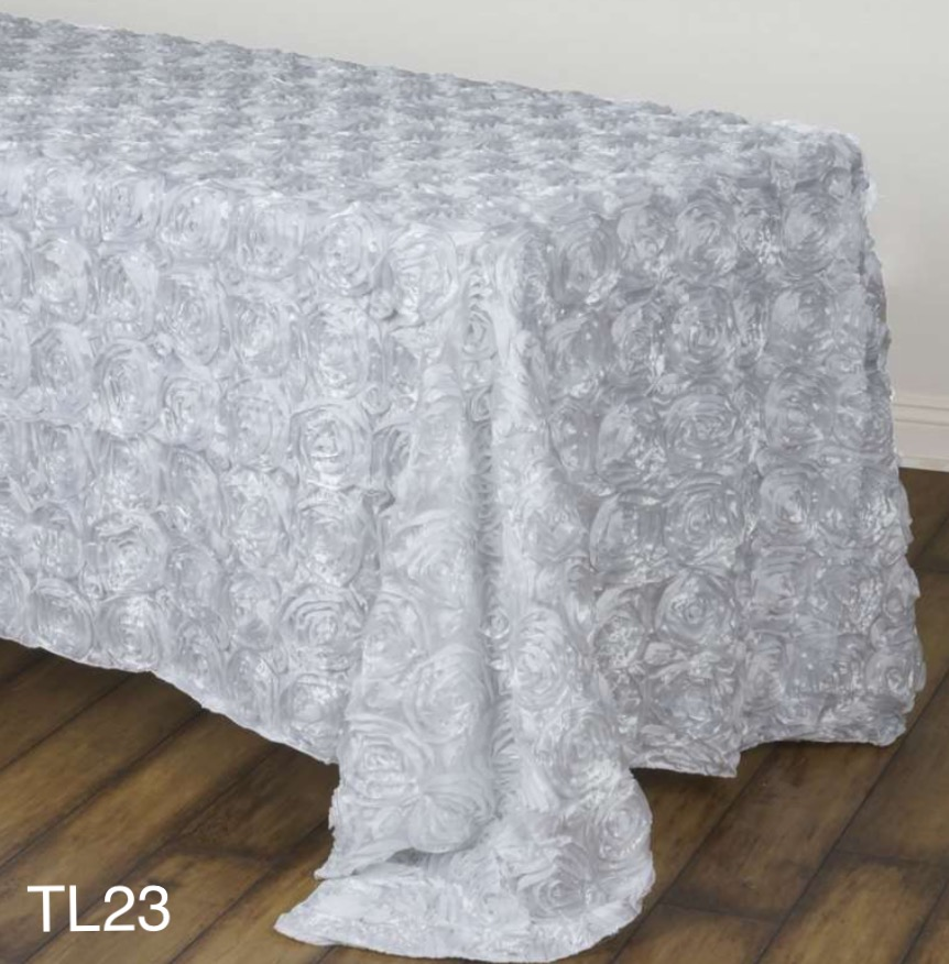 White Rose Tablecloth