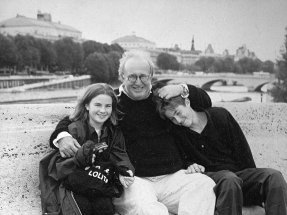 Allie, Stan, and Justin Shaffer in Paris, 1996.