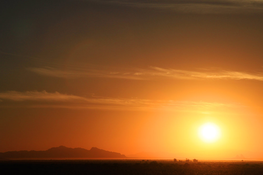 Sunset over Casa Grande, Arizona