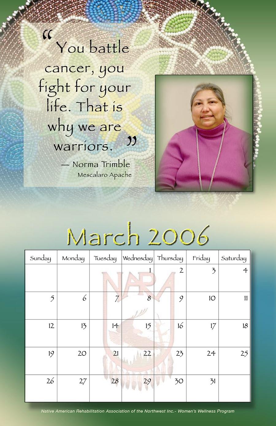 NARA Cancer Survivor Calendar