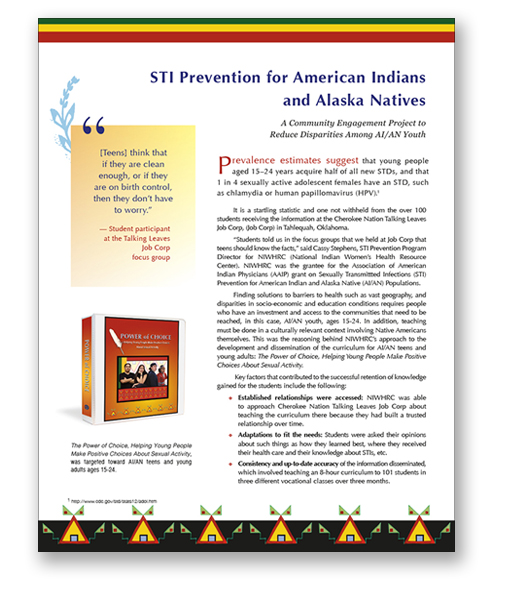 NIWHRC Teen STI Prevention Monograph
