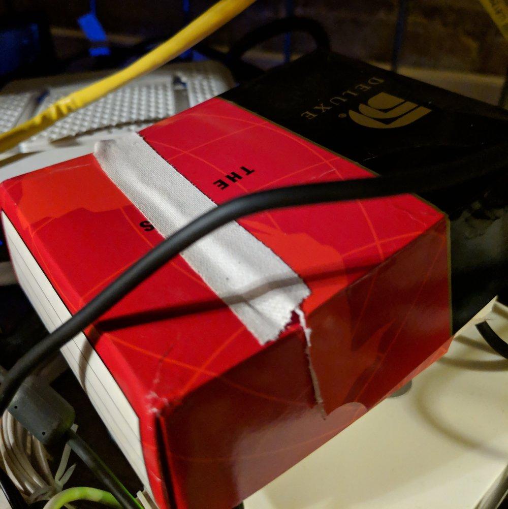 My DNS server. Maybe it would prefer a Tiffany Box?