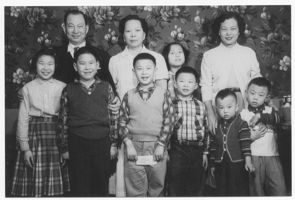 After Catherine's grandparents reunited in Milwaukee in 1947, they had five more children together. Pictured above are Catherine's grandparents with their children and two grandchildren in c. 1959.