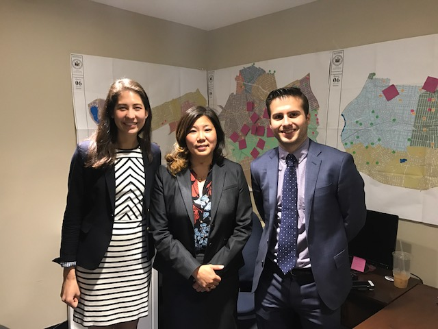 We met with Representative Meng in her campaign headquarters in Flushing, Queens