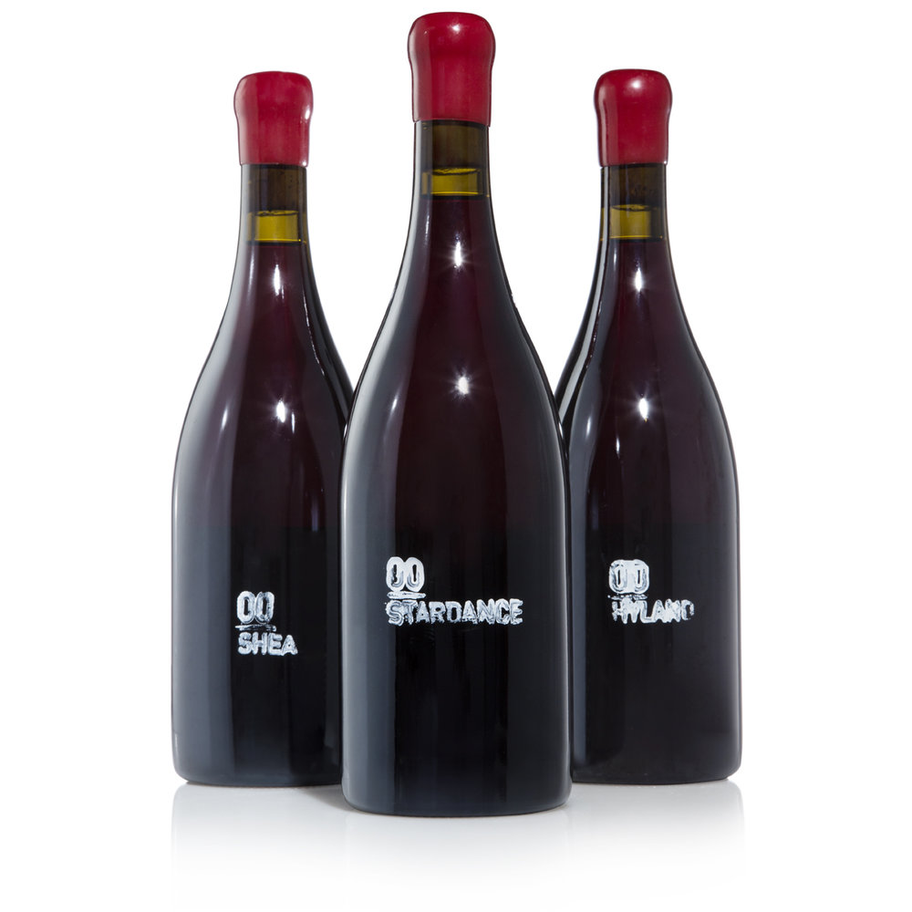 2014 Single Vineyard (Hyland, Shea, and Stardance) - $300Made in a more labor-intensive style than any other in the Willamette Valley -- individual berries are snipped off clusters by hand, and are immediately transferred to amphorae in the vineyard. The fermentation starts naturally with native yeasts. Each single vineyard wine is a pure expression of the vintage and terroir. The resulting wines are delicious and rare.