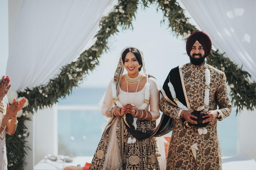 A destination Sikh Wedding ceremony in Playa Del Carmen