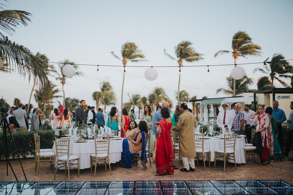 Pool side reception at Azul Beach Resort in Playa Del Carmen