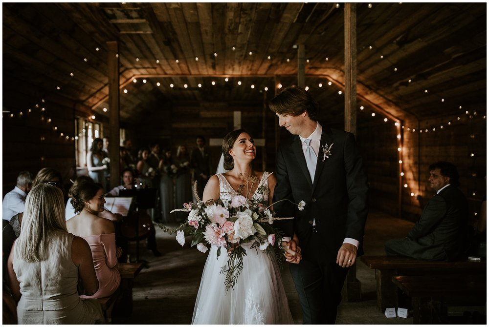 Wedding recessional at Estate 248 in Langley BC