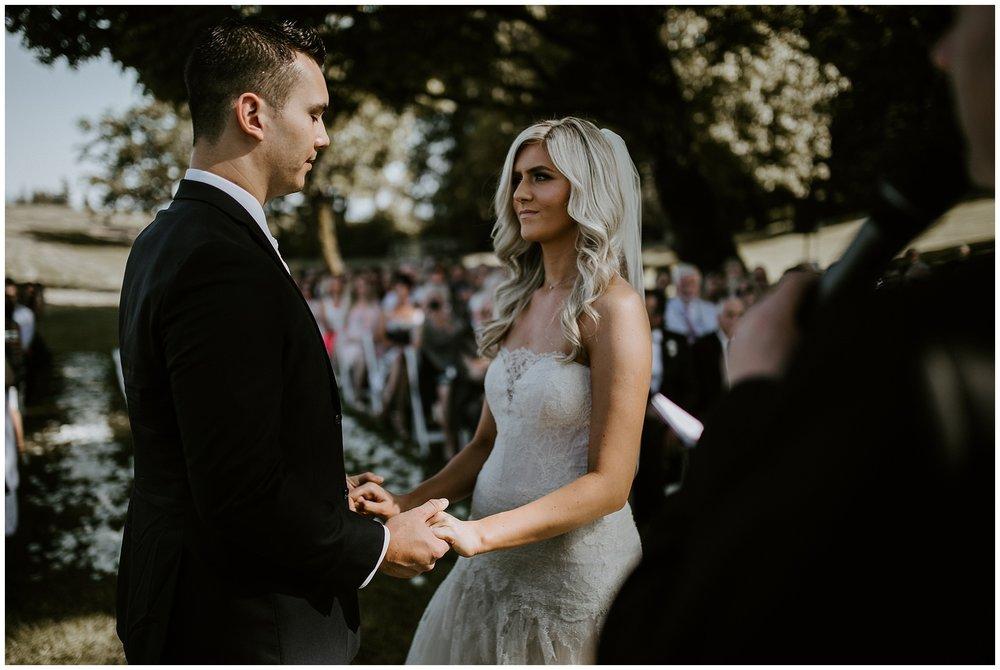 Wedding Ceremony at Mount Lehman Winery