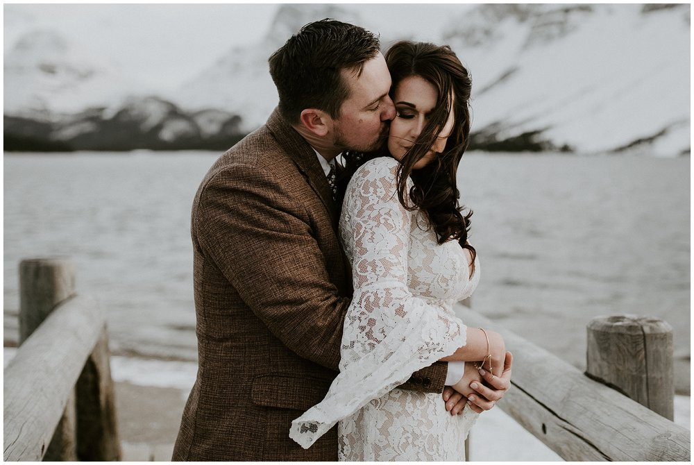 A wedding at Bow Lake in Jasper, Alberta