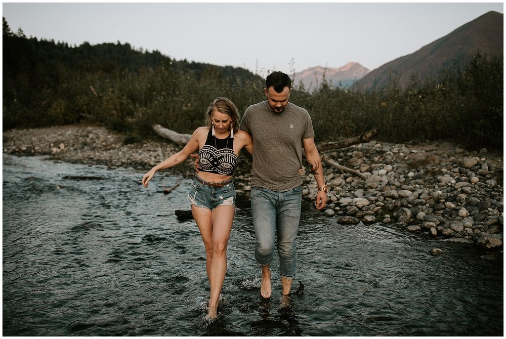 Engagement photos at the Vedder River in Chilliwack