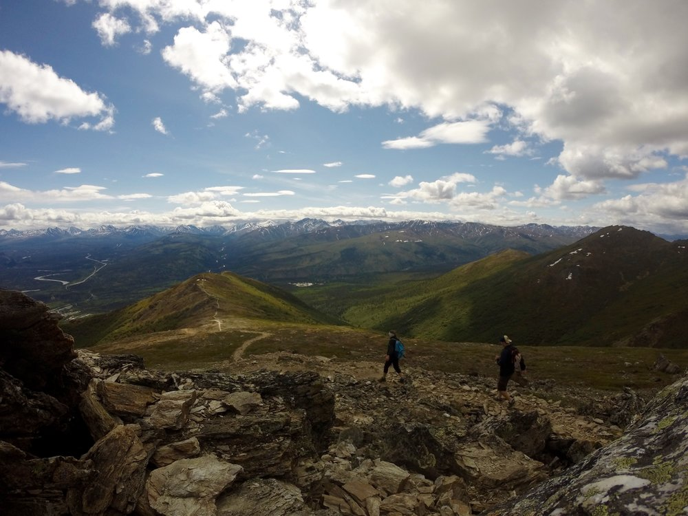 """Hiking Mount Healy in Alaska. The encouragement from my friends helped me get to the top"""