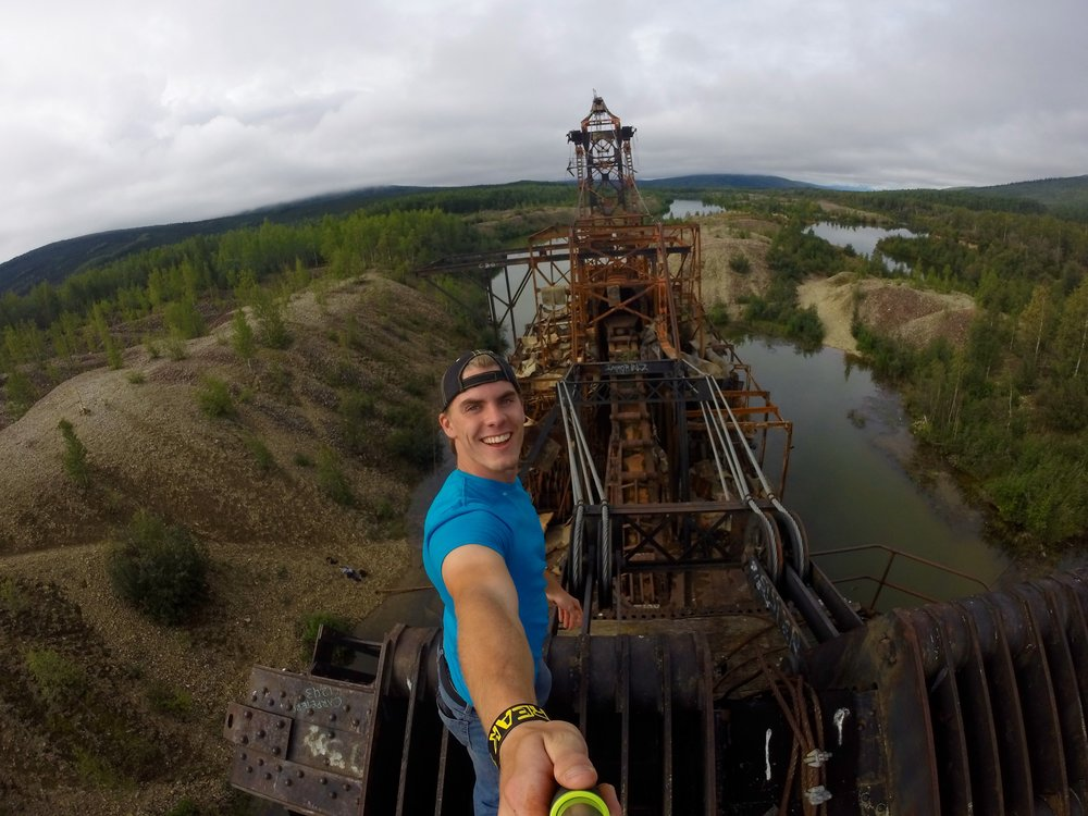 """Exploring a 100 year old abandoned Gold Dredge in Alaska.""-CB"