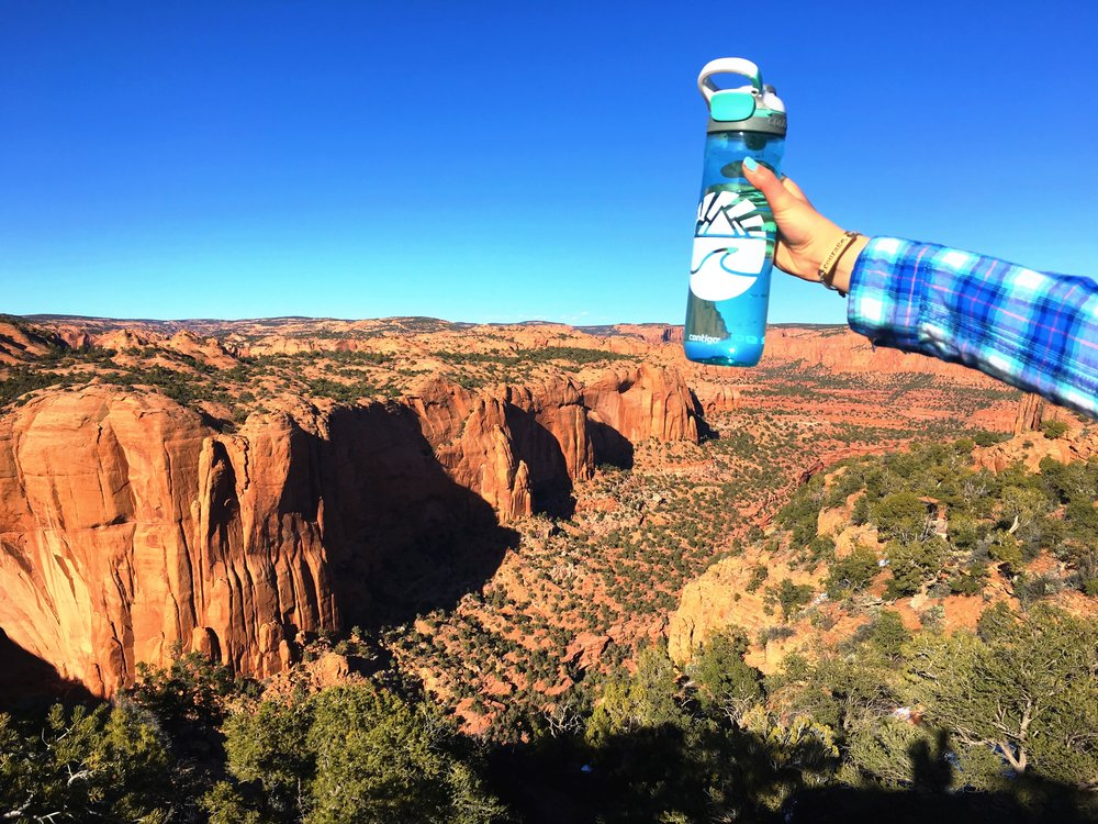 """Hanging out next to the Grand Canyon"" -Morgan"