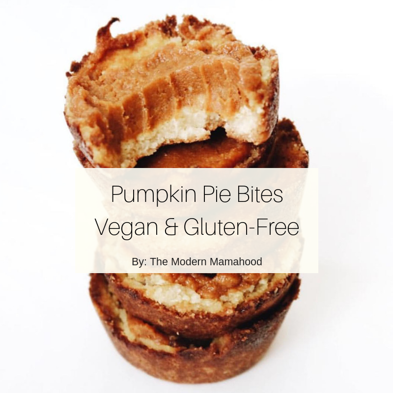 Vegan Pumpkin Pie Bites