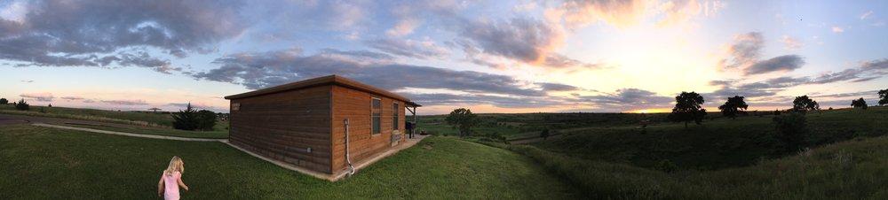 Cedar Bluff State Park Cabins, Trego County, Kansas