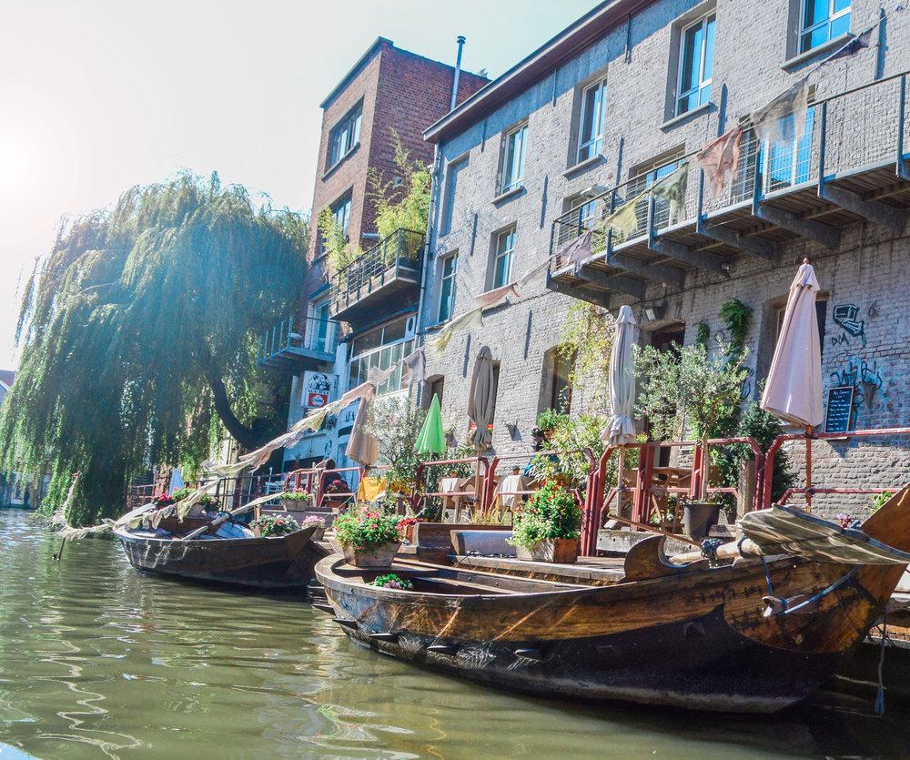 Flower barges