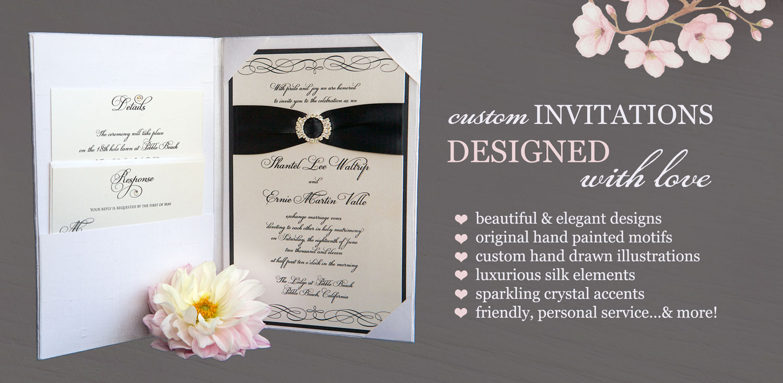 Brenna catalano design studio elegant handmade wedding invitations home stopboris Image collections