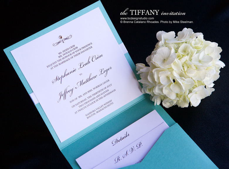the tiffany invitation brenna catalano design studio elegant